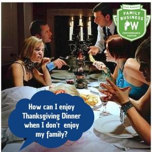 Family Business Performance Center Thanksgiving Dinner