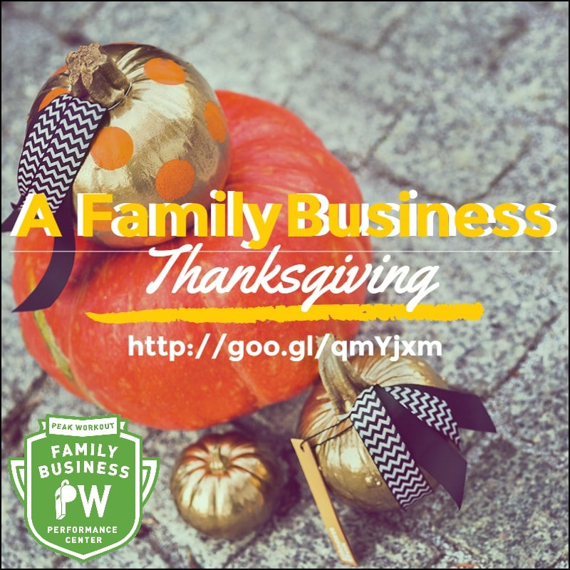 A family business thanksgiving